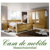 Massivholz Schlafzimmer komplett Kiefer massiv honig lackiert ROLAND II
