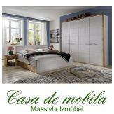 Massivholz Schlafzimmer komplett 4-teilig Kiefer massiv weiß Hamburg