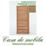 Massivholz Schrank 1-türig klein Jale Wohnzimmerschrank Wildeiche massiv geölt