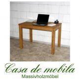 Massivholz Schreibtisch 110x70 Wildeiche massiv geölt - Eiche Bürotisch DIEZ
