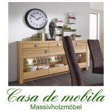 Massivholz Sideboard Kommode Holz Kernbuche massiv geölt - MESSINA