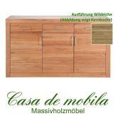 Massivholz Sideboard 3-türig Jale Kommode Wildeiche massiv geölt