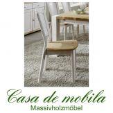 Massivholz Stuhl Kiefer massiv lackiert Holzstuhl Küchenstuhl GULDBORG - Kiefernstuhl