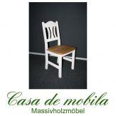 Massivholz Stuhl Kiefer massiv weiß gelaugt geölt 2-farbig KRISTEL