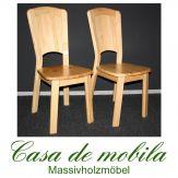 2er-Set Stuhl-Set Kiefer massiv lackiert Stühle Kiefernstühle GULDBORG