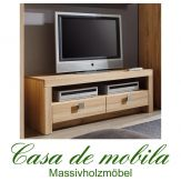 Massivholz TV-Lowboard TV-Kommode Holz Kernbuche massiv geölt - MESSINA