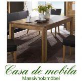 Massivholz Esstisch Buche massiv natur geölt CASERA - 170x95 cm, Längen 130-210 Kernbuche