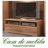 Massivholz TV-Lowboard Buche massiv natur geölt CASERA - TV-Board II Kernbuche / Rotkernbuche