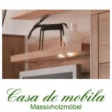 Massivholz Wandpaneel mit Board Buche massiv natur geölt CASERA - Wandboard I Rotkernbuche / Kernbuche