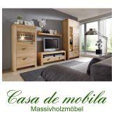 Massivholz Wohnwand Holz Kernbuche massiv geölt - MESSINA