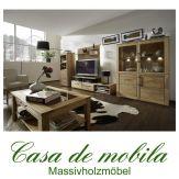 Massivholz Wohnzimmer komplett Wildeiche massiv natur geölt OXFORD 7-teilig