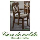 2er-Set Armlehnstuhl mit polster Set armlehnenstühle honig  ALENA, provance lackiert