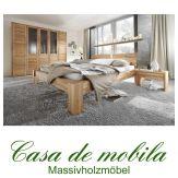 Massivholz Schlafzimmer komplett Kernbuche massiv geölt HERCULES - Bett 140x200