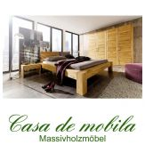 Massivholz Schlafzimmer komplett Wildeiche massiv HERCULES - Bett 140x200